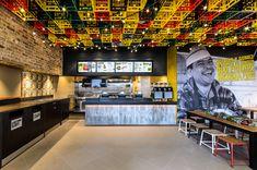 Guzman Y Gomez — Civardi Furniture Mexican Restaurant Design, Restaurant Interior Design, Commercial Interior Design, Restaurant Lighting, Restaurant Lounge, Restaurant Concept, Cafe Design, Store Design, Food Design