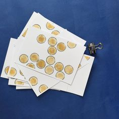 set de 12 cartes assorties impression graphique pois par JeanneZam
