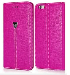 Replacement Xundo Look Leather Feel Pouch Compatible for iPhone 7 Plus in Pink Iphone 7 Plus, Iphone 6, Leather Pouch, Hot Pink, Wallet, Feelings, Purple, Brown, Cover