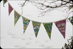 Amy Butler Soul Blossoms Party Bunting, Amy Butler, Blossoms, Tapestry, Home Decor, Hanging Tapestry, Flowers, Tapestries, Decoration Home