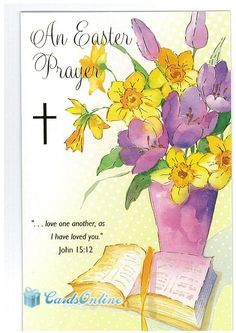 Religious easter ecard 123greetingsprofilebebestarr religious easter cards from cardsonline 100 front of card features traditional design m4hsunfo Images