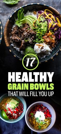 17 healthy grain bowls that you should make for dinner! Try these out.