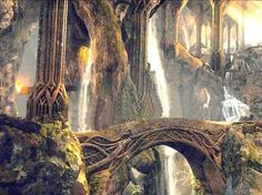 "The Elven King's Halls...""The King's cave was his palace and the fortress of his people in times of danger."""