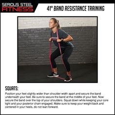 "Check out our 41"" Band Mini Guides to learn the many uses of our bands! This mini guide focuses on banded squats, which can give your workout the extra resistance you need."