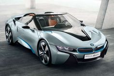 Futuristic Hybrid Roadsters  The BMW i8 Spyder Concept is an Efficient High Speed Luxury Ride #BMW #cars #luxurycar #sportscar