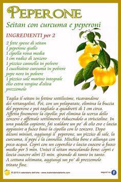 Peperone: seitan con curcuma e peperoni