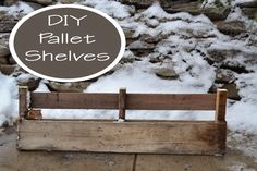 Ever After in the Woods : How to Make DIY Pallet Shelves Instructions and Photo step by step turial
