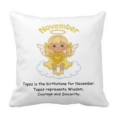 November Birthstone Angel Blonde Pillow  http://www.zazzle.com/november_birthstone_angel_blonde_pillow-189663398001094518?rf=238631258595245556