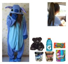"""Sleepover 🌹 Talia 🌹"" by ashleighreigns156 on Polyvore featuring Junk Food Clothing, Disney, Gatorade and Flamant"