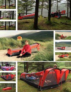 Check out the Kickstarter for Crua Hybrid, a tent hammock sleeping bag inflatable mattress combo. Hammock Sleeping Bag, Hammock Tent, Sleeping Bags, Hammocks, Backpacking Hammock, Kayak Camping, Camping Hammock, Camping 101, Backpacking Meals