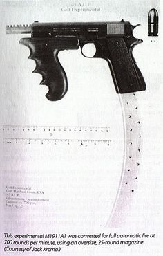 Baby Face Nelson used this to escape the FBI. 700 rounds per minute. 1911 Pistol, Colt 1911, Baby Face Nelson, M1911a1, Custom 1911, Submachine Gun, Military Guns, Airsoft Guns, Guns And Ammo