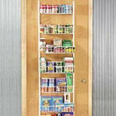 Pantry door rack fresh finds kitchen space savers kids that 18 inch adjustable door rack for pantry over the door pantry organizers workwithnaturefo