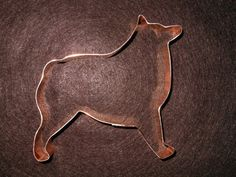 Schipperke Dog Breed Cookie Cutter - hand crafted solid copper - free shipping in USA