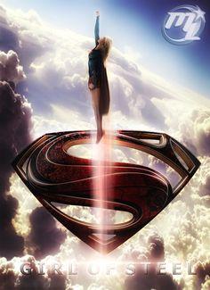 Supergirl Photoshop Art Series - GIRL OF STEEL — GeekTyrant