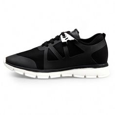 d1f0c90a82 Black Lace-ups Trendy Sneakers for Men that add height 6cm / 2.36inch  Rennschuhe