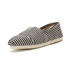 2014 New Arrival Toms Shoes Black and white pinstripe
