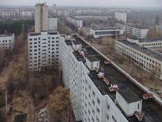 Abandoned buildings near Chernobyl