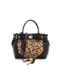 01a4c8907 This Zoe tote deux from Rachel Zoe crafted with leopard-print haircalf and  supple leather is a gorgeous statement purse perfect to flaunt throughout  the ...