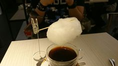 Cotton candy cloud coffee