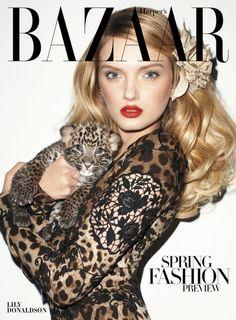 Harper's Bazaar. love Lily Donaldson's hair/makeup