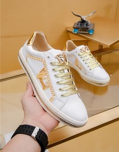 Versace Casual Shoes For Men Versace T Shirt, Versace Shoes, Gucci Shoes, Versace Fashion, Men Fashion, Fashion Shoes, Gucci Mens Sneakers, Belts For Women, Men's Style