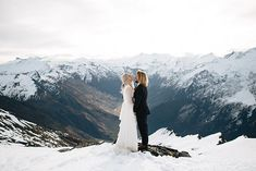 Stunning mountain shoot in Lake Wanaka, New Zealand. Find more venue ideas at southernbride.co.nz