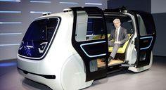 Sedric: o futurista carro autônomo da Volkswagen que te leva onde quiser - Stylo Urbano #carros #design #tecnologia