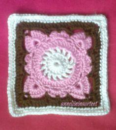 crochet willow square, paju-neliö, paju ruutu, paju neliö, Virkkaus,