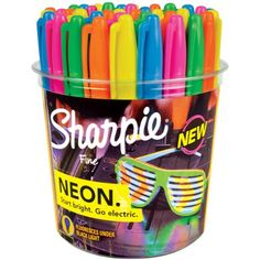 Sanford 1875609 Sharpie Fine Canister, Neon, 36-Pack Sanford http://www.amazon.com/dp/B00JOT9CP2/ref=cm_sw_r_pi_dp_OrzAub104MYGJ