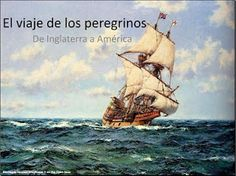 Spanish powerpoint about the Pilgrims' journey on the Mayflower - designed for 1st/2nd grade bilingual class