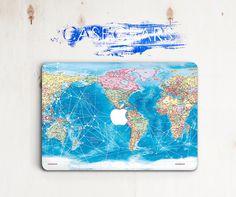 World Map Case Macbo