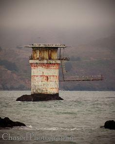 Mile Rock Lighthouse. San Francisco