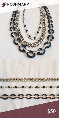 Lia Sophia necklace 3 piece interchangeable necklace from Lia Sophia! Lia Sophia Jewelry Necklaces