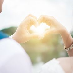 Cropped Image Of Couple Making Heart Shape With Hands Wedding Captions For Instagram, Caption For Yourself, Crop Image, Love Shape, Wedding Etiquette, People Fall In Love, Funny Captions, Couples Images, Bridezilla