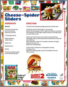Cloudy with a chance of meatballs recipes.