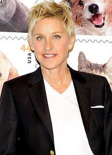 Ellen DeGeneres - stand up comedienne, talk show host, actress, philanthropist, animal rights activist.  Born January 26, 1954 in Metairie, Louisiana