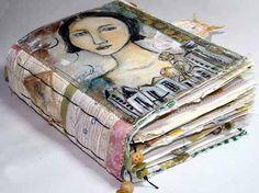 so beautiful! - mixed media art journal