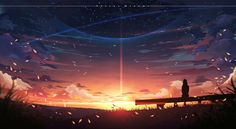Makoto Shinkai art style study by Jun Wei on ArtStation. City Wallpaper, Anime Scenery Wallpaper, Galaxy Wallpaper, Anime City, Sky Full Of Stars, Anime Backgrounds Wallpapers, Aesthetic Photography Nature, City Art, Science And Nature
