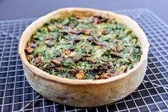 Greens and Walnut Quiche