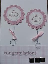 Twin baby girl card