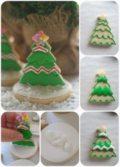 Easy Chritsmas trees by Pink Little Cake