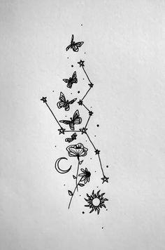 thatgirlwhodoesart on tiktok Cute Tiny Tattoos, Dainty Tattoos, Dope Tattoos, Little Tattoos, Pretty Tattoos, Mini Tattoos, Beautiful Tattoos, Small Tattoos, Tatoos