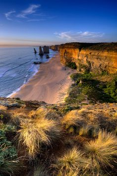 View of the 12 Apostles along the Great Ocean Road, Australia.