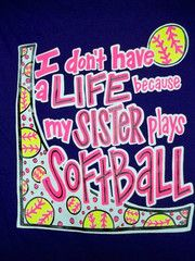 Southern Chics Funny Softball Sister Sweet Girlie Bright T Shirt | SimplyCuteTees