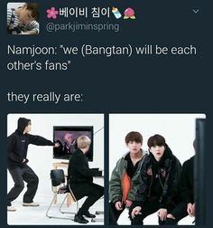 So true Bangtan is always supporting one another