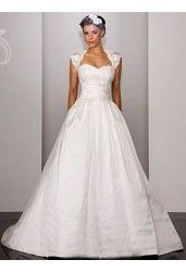 Satin Sweetheart Cap Sleeves Ball Gown Hot 2 in 1 Wedding Dress with Lace Jacket