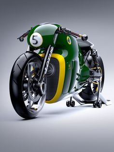This is the proposed Lotus C-01 motorcycle, a 200hp cruiser using a tuned version of the KTM RC8 engine. The price is projected to be around $137,000—no doubt due to the plentiful use of titanium and carbon fiber.