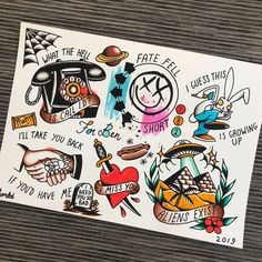 For everything Blink 182 check out Iomoio - Old School Emo Tattoos, Punk Tattoo, Lyric Tattoos, Body Art Tattoos, Sleeve Tattoos, Hand Tattoos, Ship Tattoos, Ankle Tattoos, Arrow Tattoos