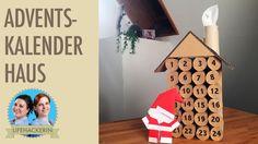 Advent Calendar House using Toilet Paper Rolls Adventskalender aus Toilettenpaper Rollen