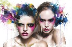 Sensuous Summer Editorials : summer is over, painterly beauty photography, watercolor photography, aquarell, water paint portrait